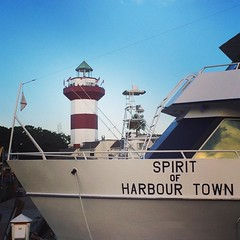 Finally, got out this evening to see the Harbour Town Lighthouse & got to see Gregg Russell! #greggrussell #summer2016 #hhi