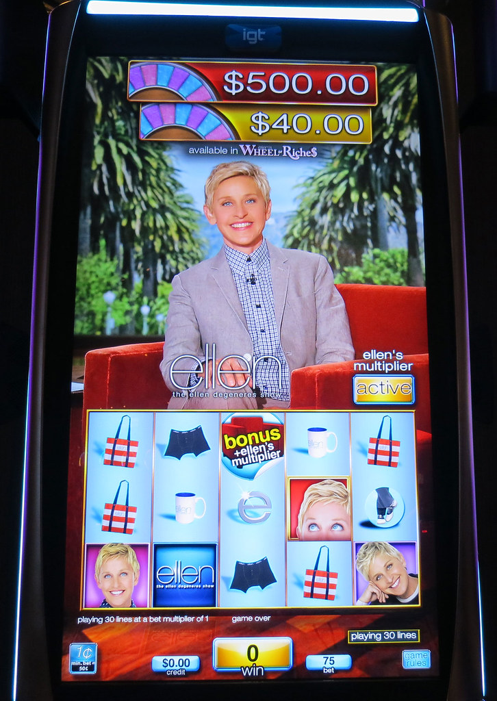 Ellen degeneres slot machine