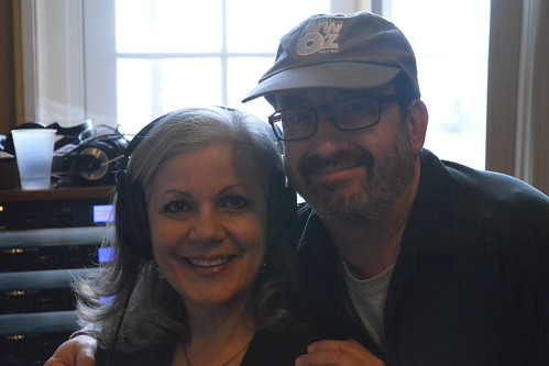 Sally Young and Ron Phillips in the studio. Photo by Kichea S Burt