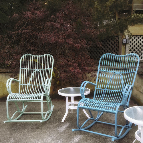 chairs twins two duo deux chaises terrace object