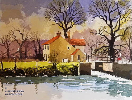 watercolour watercolor artist lock dedham suffolk constable country england alwyn crawshaw autumn fall summer spring trees norfolk water reflections tree woodlands bluebells bluebell wood painting landscape portrait oil acrylic