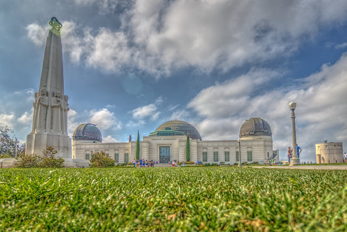 hdr griffithparkobservatory losangeles cityscape clouds