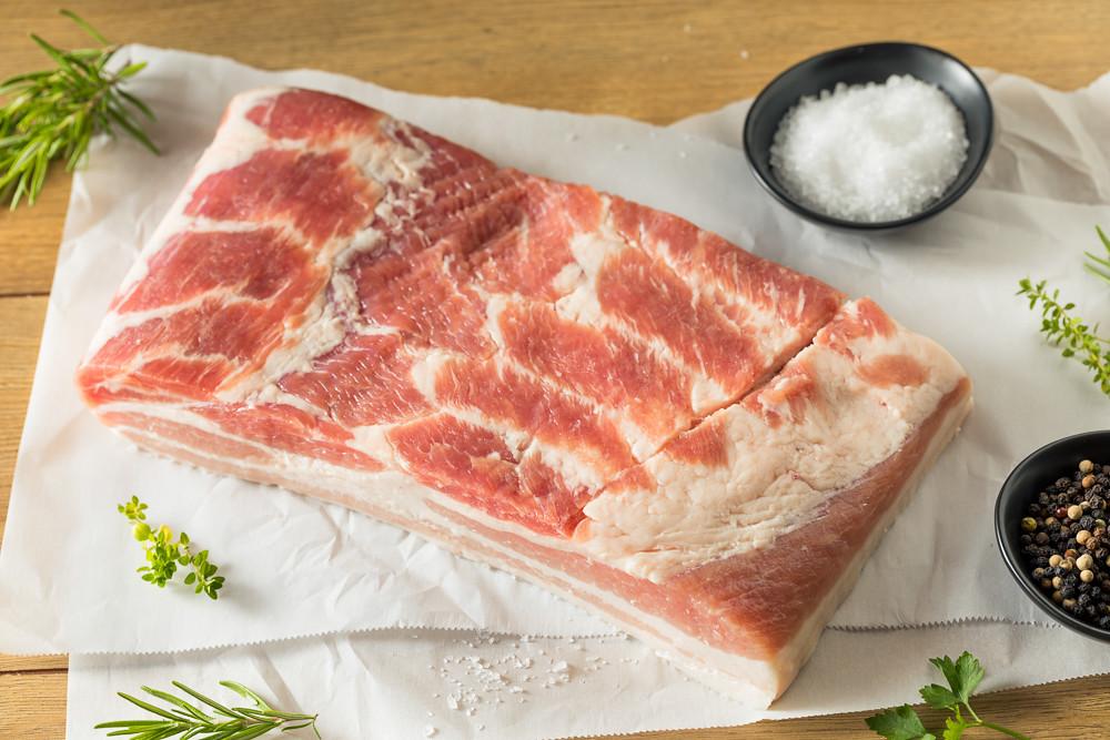Raw Organic Pork Belly Meat