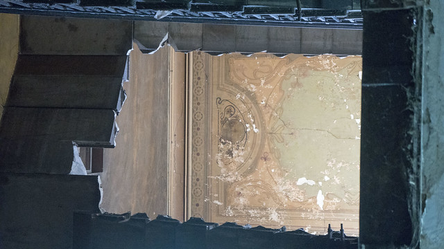 The painting of the ceiling that does not exist anymore