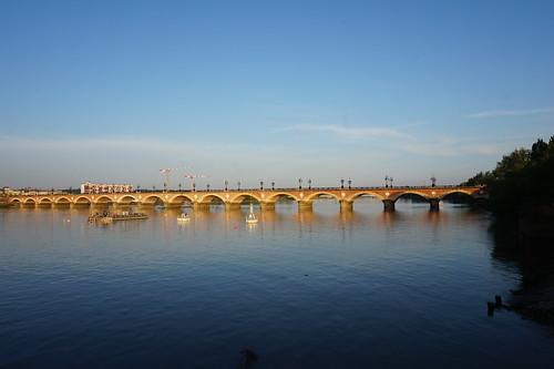 Garonne and Pont de Pierre, Bordeaux, France | by mattk1979