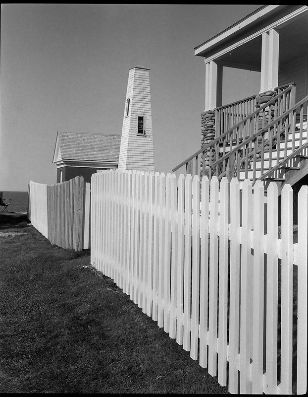 architectural forms and movements, lighthouse complex, Pemaquid Point, Maine, Koni Omega Rapid 100, Arista.Edu 200, Ilford Ilfosol 3 developer, 7.19.18
