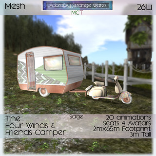~ASW~ The Four Winds & Friends Camper- Sage | by Adorably Strange Wares