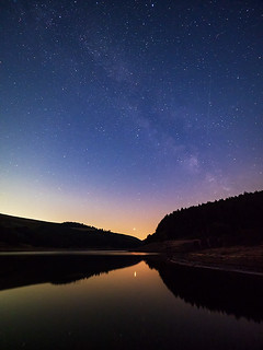 Mars and a Milky Way - Derwent Reservoir
