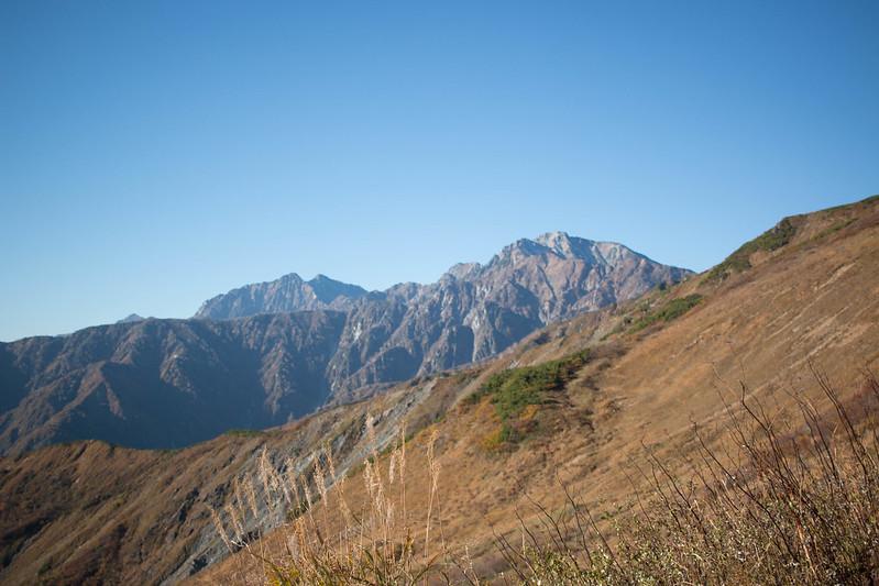 五竜岳と鹿島槍ヶ岳が見える