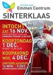 Poster Vlinderstad Emmen Centrum Sinterklaas activiteiten 2013