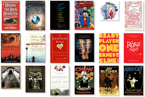 The books I read in 2014, screenshot 1 of 3.  See domesticat.net/2014/12/year-books-came-back-me for more explanation.