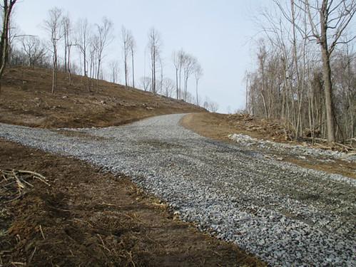 Rock on new driveway