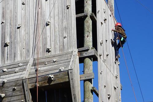 HS kids on challenge course in West Orange