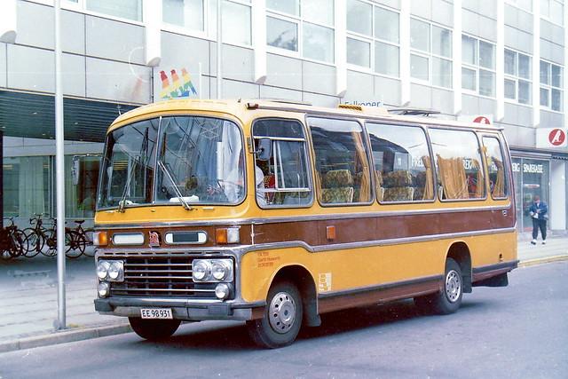 Bedford Plaxton EE98931 Copenhagen July 1989