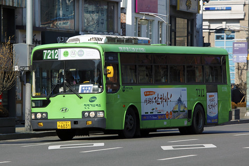 Seoul Bus 7212 | Hyundai | Aero City(CNG) | Jahamun road | by byeangel