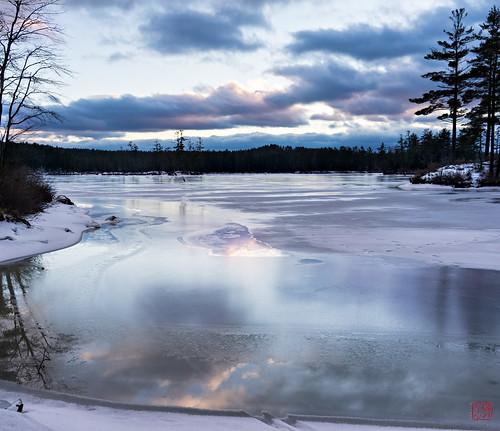 sunset ice twilight unitedstates walk massachusetts tully royalston tullylake winter2014