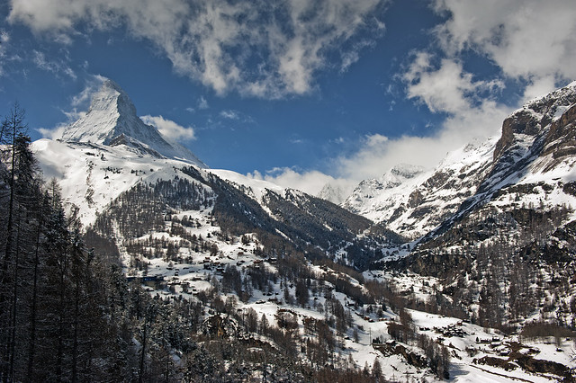 The Matterhorn , the Symbol of Switzerland. And the Zmutt Valley. No. 4120.
