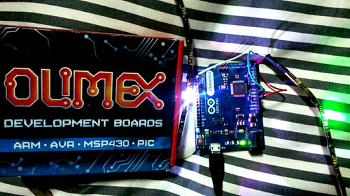 Olimex LED Strip Programming with FastLED and codebender