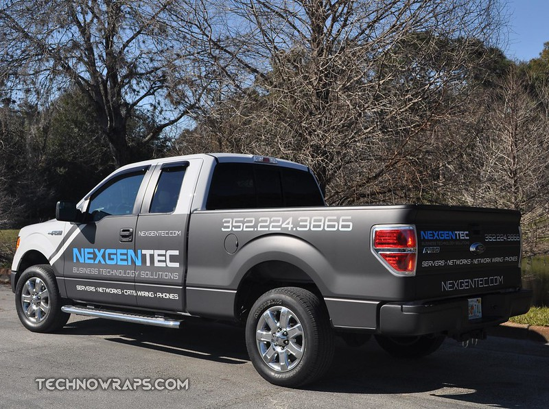 Matte fleet truck wrap by TechnoSigns