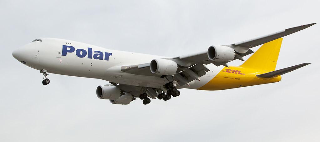 Polar Air Cargo/DHL Boeing 747-8F (N851GT) arrives Los Ang