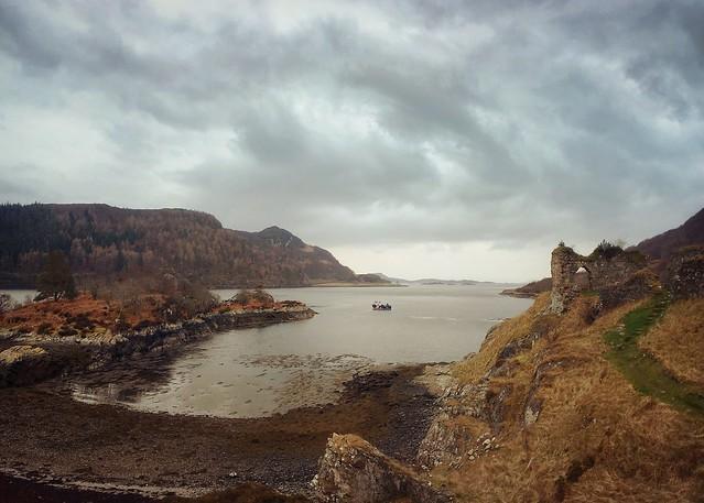 Strome Castle and Castle Bay, Loch Carron, Wester Ross
