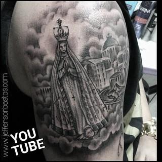 Tattoo Nossa Senhora Aparecida Realizada No Maior Motovlo