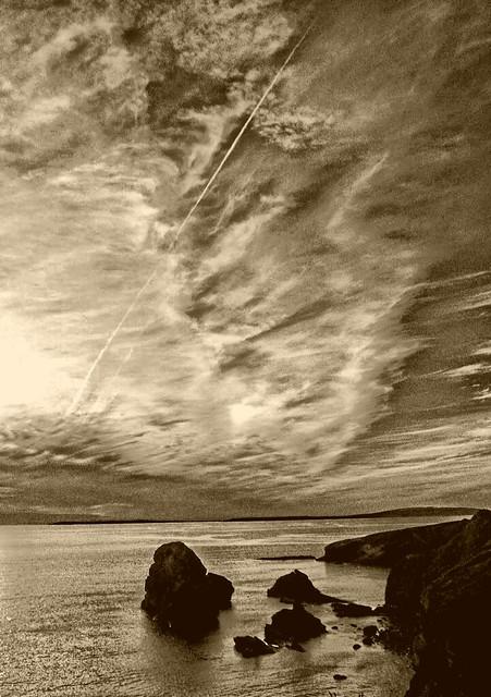 The headland in pure sad silence......