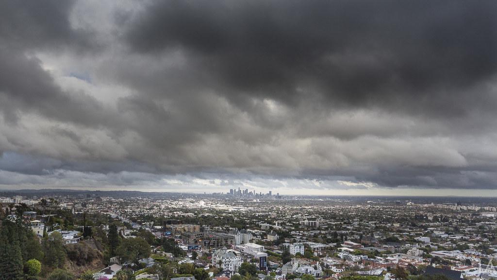 Los Angeles Skyline Stormy Weather | Jacob Avanzato | Flickr