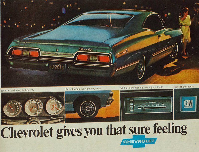 CM040 1967 Chevrolet Impala Car Ad Framed DSC04414 crop