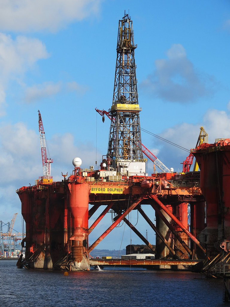 Oil drilling rig 'Byford Dolphin' | Moored in Belfast Harbou