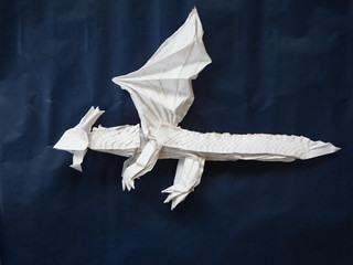 scaled dragon | by bodorigami