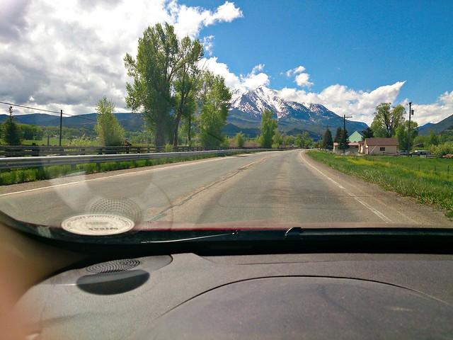 Mt Sopris Through The Windshield