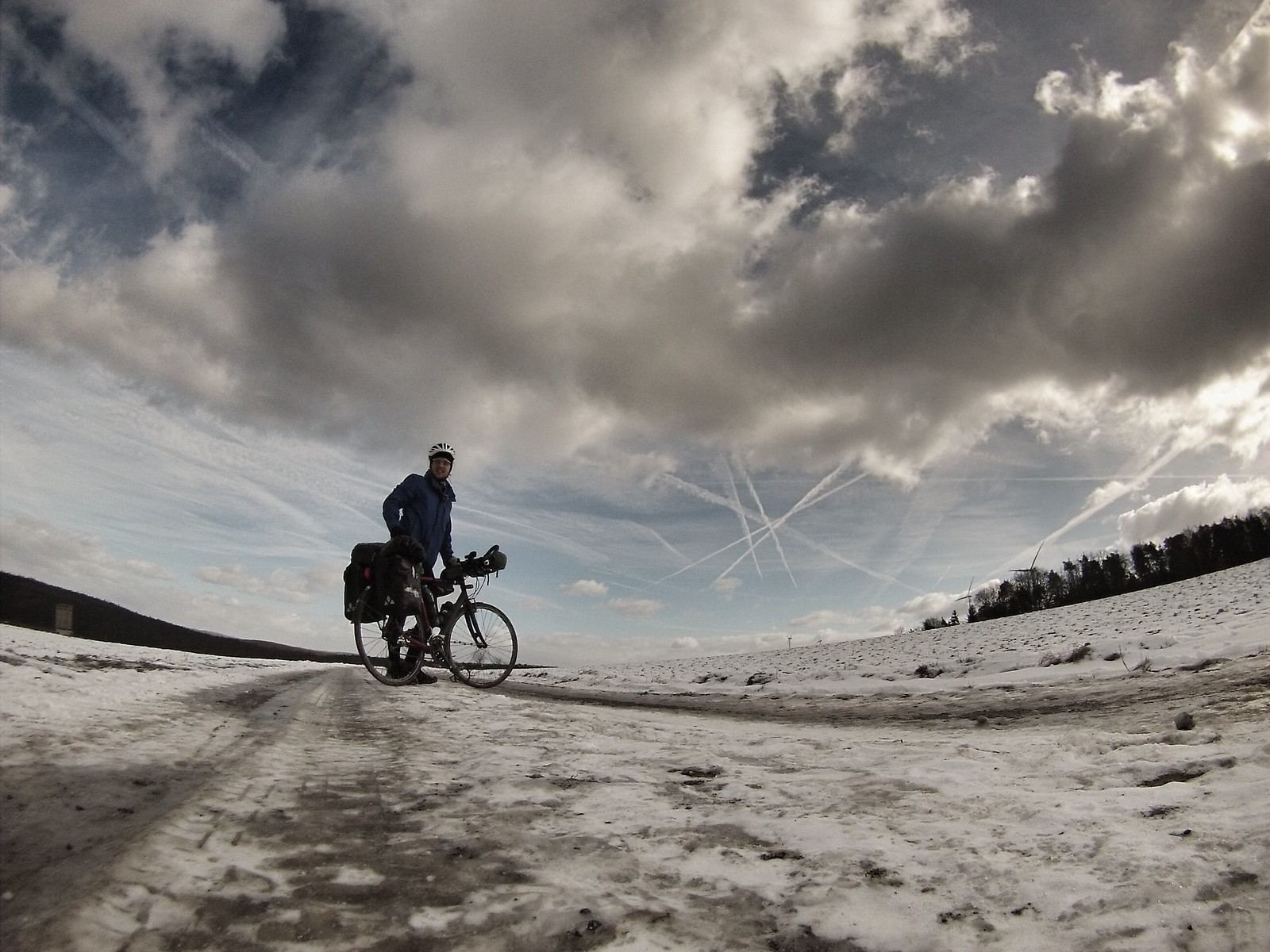 Mountains and snow in Germany #r2s #cycling #adventure #germany