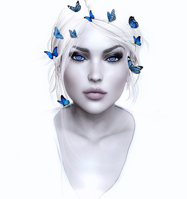 the girl with butterflies