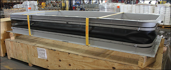 Rectangular Fabric Expansion Joint for a Ventilation Air Filter System at a Gas Turbine Facility