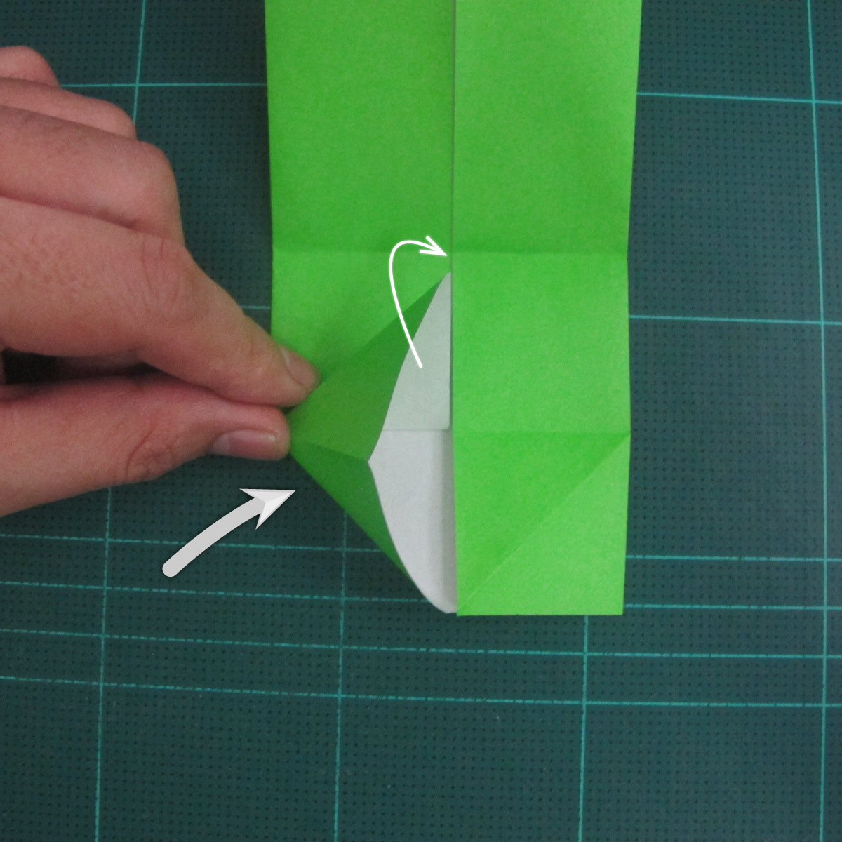 การพับกระดาษเป็นรูปแรด (Origami Rhino) 006