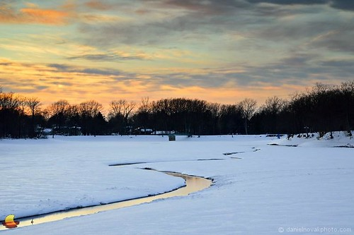winter sunset sky white snow ny newyork reflection ice nature colors creek river landscape outdoors frozen buffalo bright image picture greenlake photograph orchardpark snaking yatespark