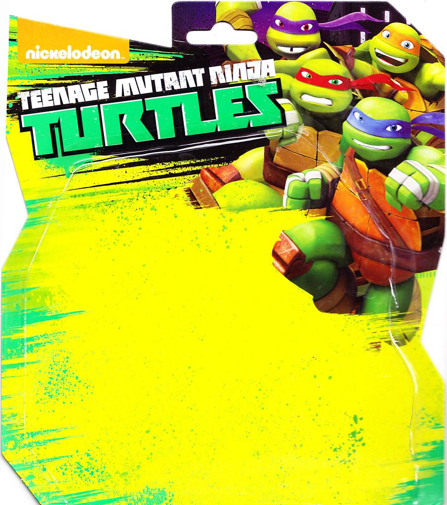 """Nickelodeon  TEENAGE MUTANT NINJA TURTLES :: Goodie vs. Baddie Twin Pack; """"MICHELANGELO vs.  ROCKSTEADY"""" / ..card backer i (( 2015 ))  [[ Courtesy of Hero ]] by tOkKa"""