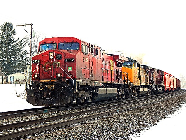 Canadian Pacific and Union Pacific at Kendallville Indiana