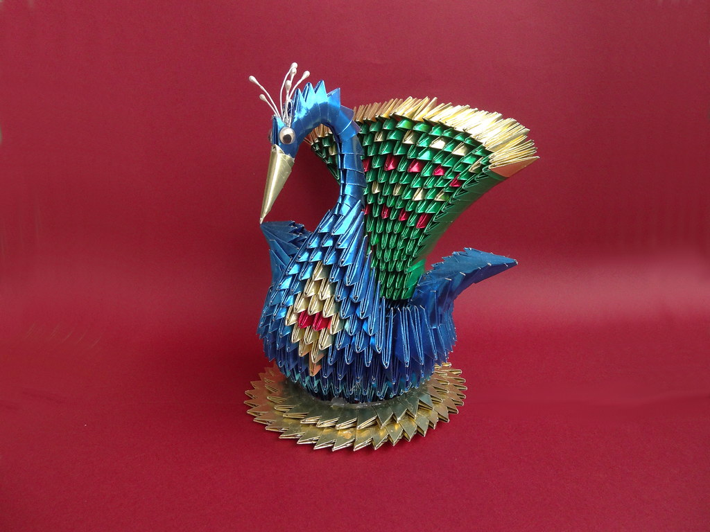 3D origami red winged swan tutorial - YouTube | 768x1024