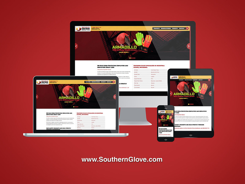 Southern Glove Responsive Website Design