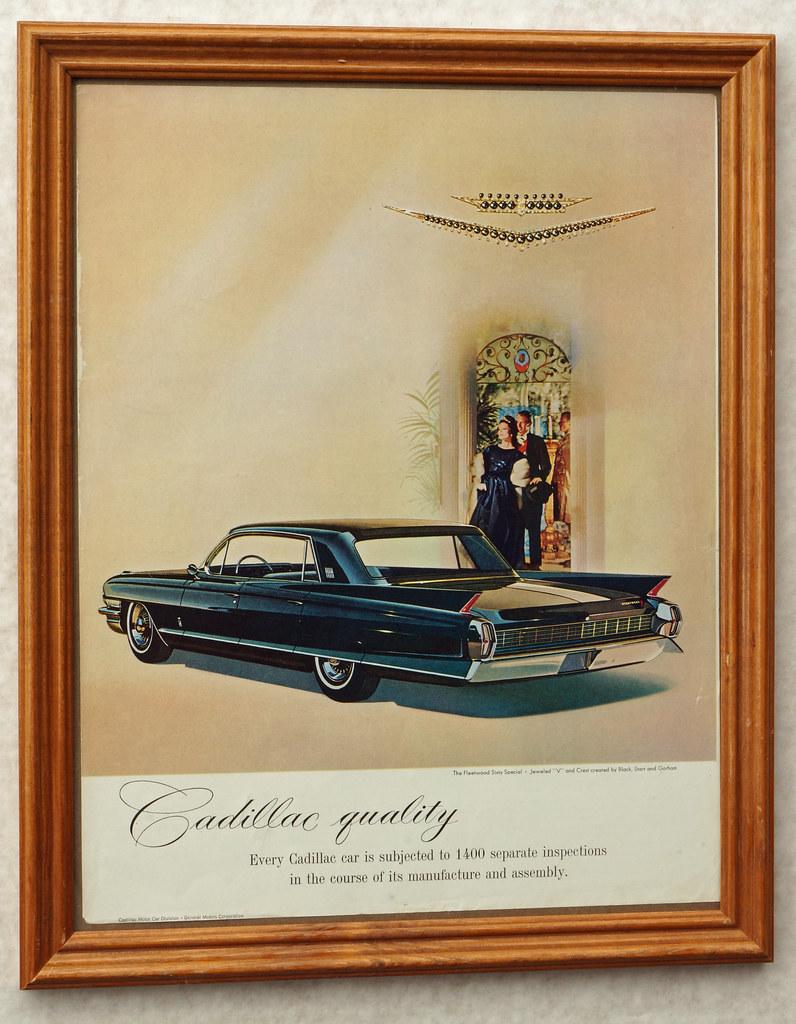 CM037 1961 Cadillac Car Ad Framed DSC04437