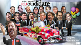 Republican's Next Top Candidate 2016, Who will ride in the Clown Car? | by DonkeyHotey