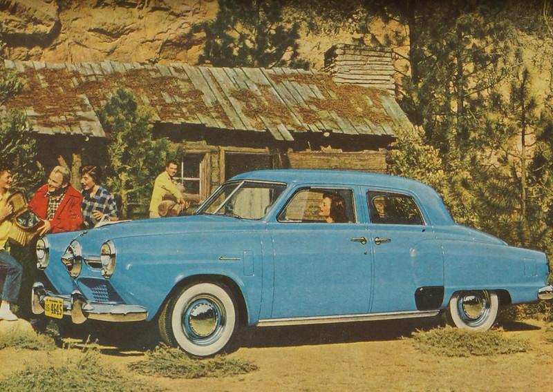 CM056 1950 Studebaker Car Ad Framed DSC04420 crop