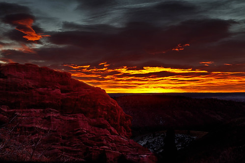 morning red sky orange clouds sunrise dark landscape dawn colorado denver redrocks morrison