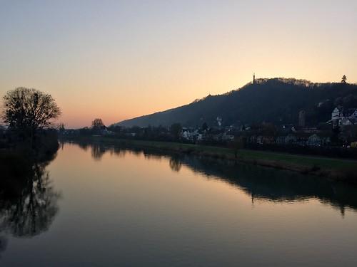 sunset reflection germany deutschland spiegelung trier mosel rheinlandpfalz moselle abendrot rhinelandpalatinate mosellevalley markuskapelle appleiphone6 latarios
