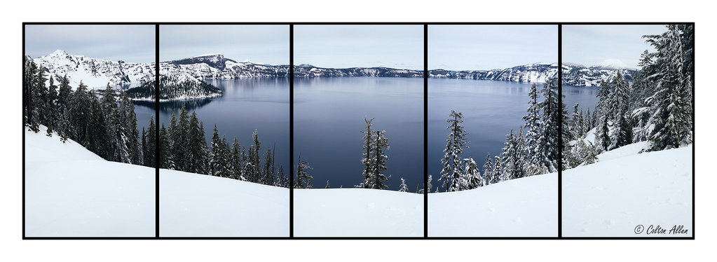 Winter Crater Lake Pentaptych