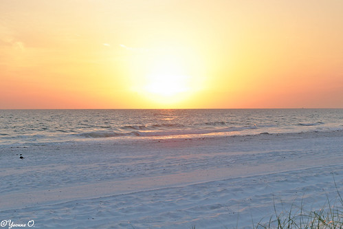 sunset sonnenuntergang whitesand beach strand orange sky landscape waterscape meer gulfcoast ocean water florida madeirabeach sand