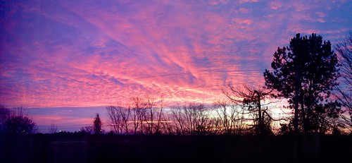 sunrise cloudy michigan annarbor