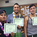 "Proud iCAN graduates Data Sananap, Nathan Paoa and Drew Cox showing off their certificates of completion. For more information on the iCAN Kapiʻolani Community College/McKinley Community School for Adults program, go to <a href=""http://www.kapiolani.hawaii.edu/campus-life/special-programs/ican/"" rel=""noreferrer nofollow"">www.kapiolani.hawaii.edu/campus-life/special-programs/ican/</a> or email ican.mcsa@gmail.com."